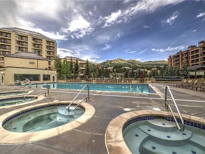 Photo for On call shuttle, walk to town, outdoor pool & hot tubs, hiking trails clsoe by