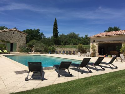 Photo for Heated saline pool,  Luxury farmhouse , close to Uzes, tranquil, see the video.