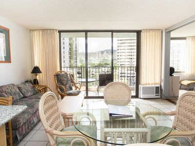 Photo for Darmic Waikiki Banyan: Superior Pool View  |  8th  floor  |  1 bdrm  | FREE wifi and parking  | AC | Quality amenities |Only 5 mins walk to the beach!