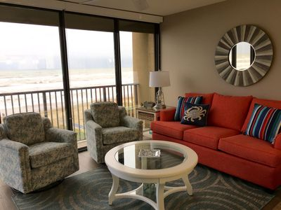Your Perfect Vacation Begins Here..Beachfront Condo Next to Beach Park