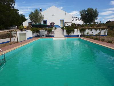 Photo for Large Farmhouse, 12m Pool and Amazing Views in 120 Acres of Alentejo Countryside