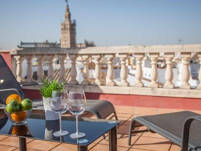 Photo for The roof of Sevilla- Chic penthouse -Giralda Views