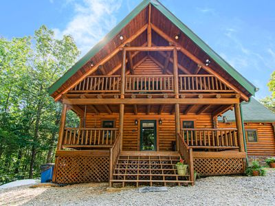 Photo for Spacious Custom Log Home Overlooking Dale Hollow Lake