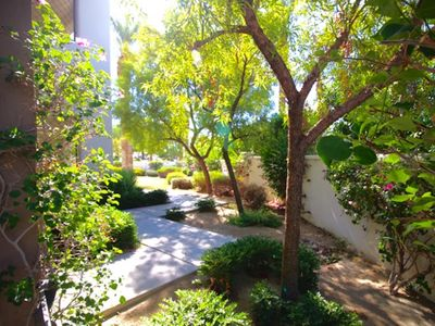 Photo for Private Garden Hideaway Condo across from Main Pool @ Legacy Villas!