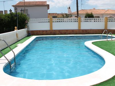 Photo for large villa with private pool just 300 meters from the beach and promenade