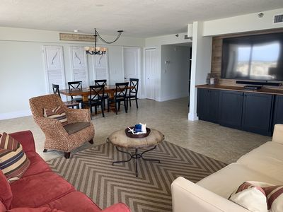 """Photo for """"Oceanside"""" *Beachfront 1700 Sf *Two King Beds! (3 BR/2.5 BA)*75"""" tv *no carpets"""
