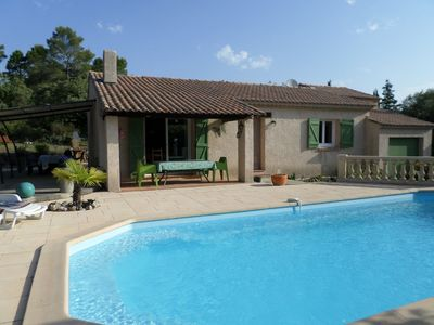 Photo for Nice villa 7 pers. with private pool, not overlooked fenced.