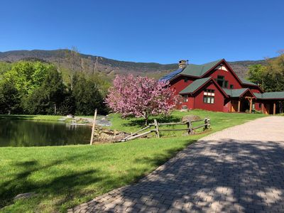 Photo for Magnificent Private Timber Frame Home with a swimming pond