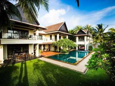 Photo for Luxury Villa Next to Layan Beach : Great For Two Families, Minibus/Chef Included