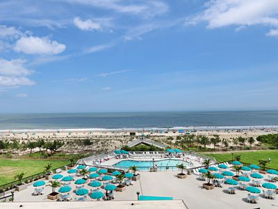 Photo for 501N: 2BR Sea Colony oceanfront condo! Private beach, pools, tennis ...