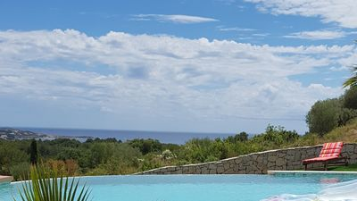 Photo for VILLA SPLENDID - WITH SPLENDID SEA VIEW - SWIMMING POOL - JACCUZZI - in 5 mn beach