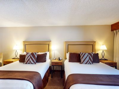 Photo for Family-friendly hotel room w/prime location near ski, shared hot tub, and pool