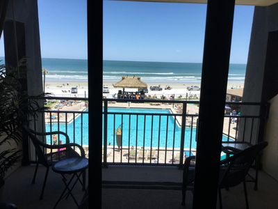 Photo for Hawiann Inn-3rd floor Direct OceanFront Balcony-remodeled-Right on the Beach!!!
