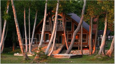 Photo for Awesome Chalet on 300' Lake Huron Lakefront  Eastern U.P.  Les Cheneux Area
