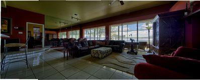 MAIN: Living and Dining room with amazing lake views!