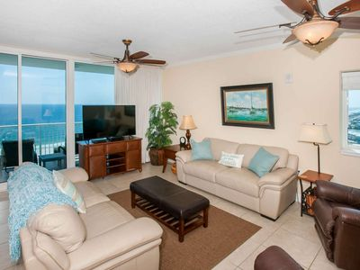 Photo for Gulf-Front 3/3, Slps 8, Blcny, W/D, WiFi, Pool/Sauna/BBQ/Fit Ctr, Free Activities - Sanibel 1701