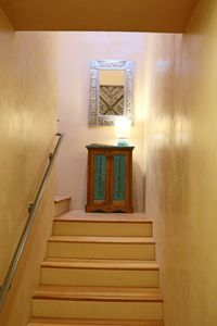 Sun drenched entry way to second floor open living area