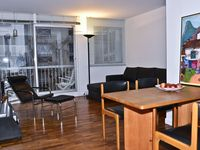 Well situated, light and bright apartment with a balcony . Very clean and very well equipped.