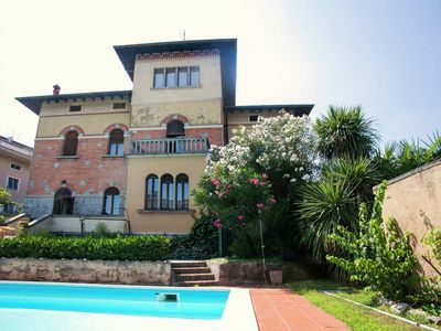 Photo for Elegant Art Nouveau villa with private pool a short distance from the lake.