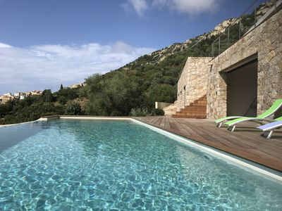 Photo for Superb villa with pool - 6 bedrooms - panoramic sea view Calvi bay
