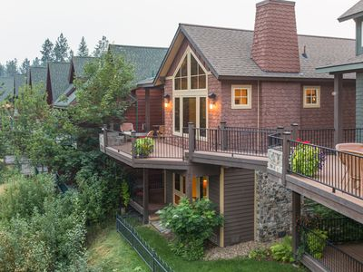 Photo for NEW LISTING! Duplex-style townhome on the river w/views, 2 kitchens & fireplaces