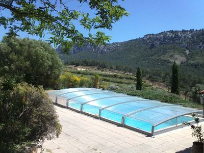 Photo for Large and beautiful T3, in a relaxing setting with terrace, solarium, swimming pool, wifi
