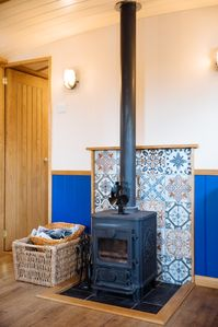 Wood burning stove (one bag of logs supplied)