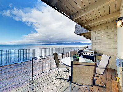 Photo for 2BR w/ Lakefront Balconies, BBQ Grill & Pool ? Walk to Dining & Live Music