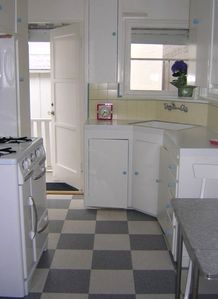 Restored Vintage Kitchen With Wedgewood Stove