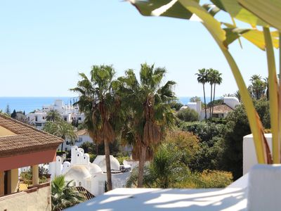 Photo for Marbella Golden Mile, terrace sea view, garage, swimming pool, wifi, air-conditioned.