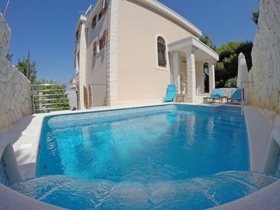 Photo for This 3-bedroom villa for up to 6 guests is located in Okrug Donji and has a private swimming pool, a