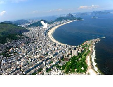 we are three blocks in from the middle of Copacabana beach down the main shop st