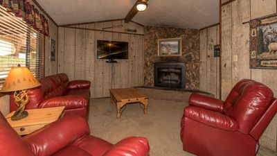 """Photo for Canyon Cabins - """"Eagle's Nest """"-  Upper Canyon - Fireplace & Kitchen & Covered Deck"""
