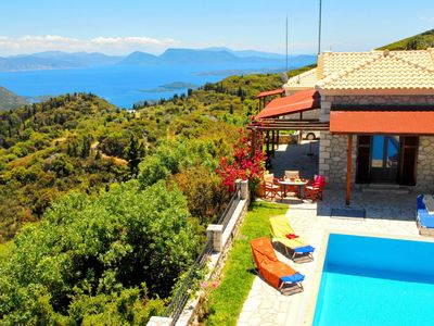 Photo for This 2-bedroom villa for up to 4 guests is located in Lefkada Port and has a private swimming pool,