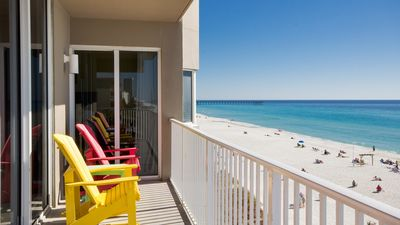 Photo for 4BR, Low Floor, Directly on the Beach, Walk to Pier Park, All Included Pricing