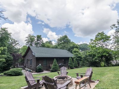 Photo for Bear N Grace - Boone Cabin with Big Yard in Quiet Community with hot tub, fire pit!