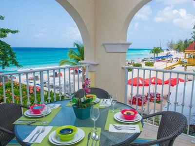 Photo for Two Levels of Sea Views & A Tropical Setting on Dover Beach