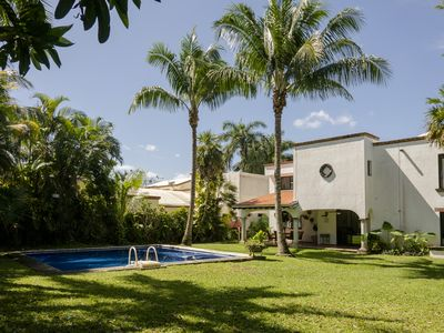 Photo for Private pool and garden - Near Cancun Airport - Great for big Families