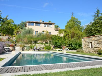 Photo for T2 on the ground floor in Provencal Bastide with swimming pool, in the heart of the Luberon