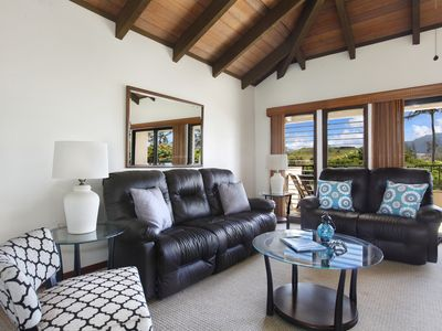 Photo for Views of mountains, gardens & a peek at the ocean; a/c in bdrm; immaculate!