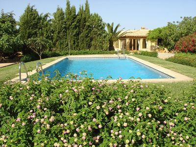 Photo for FINCA VERDE - idyllic finca in a secluded location with palm garden, pool and casita