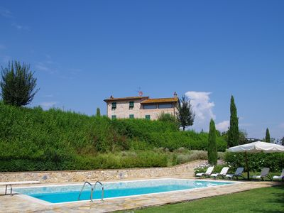 Photo for Typical Tuscan independent Villa with private large swimming pool - LUCCA Area