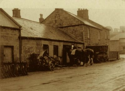 Powburn Blacksmiths. Back in the day, on what is now the A697.