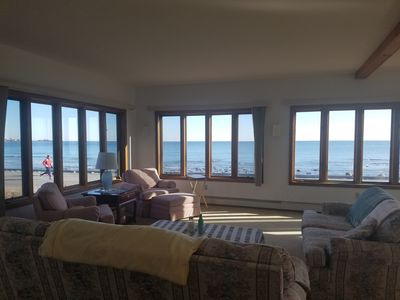 Photo for Beach Front House, Panoramic Ocean View, Watch Sun/Moon Rise/Set Over Ocean