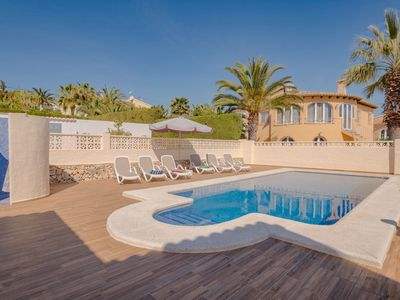 Photo for Villa 750 metres from the beach with private swimming pool, terraces and privacy