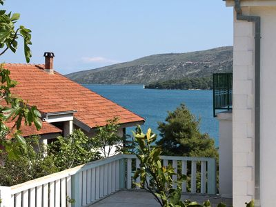 Photo for Two bedroom apartment with terrace and sea view Marina, Trogir (A-2791-a)