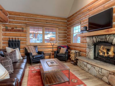 Photo for Roomy Log Cabin Perfect Montana Getaway Spot! Great Ski Access & Private Hot Tub