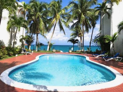 Photo for SPECTACULAR OCEAN FRONT VIEW, WI FI  , Pool, Cable,, AC, private swimming area ,