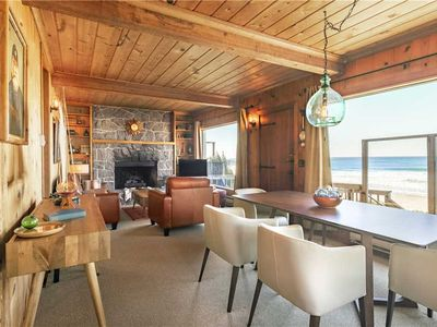 Photo for Oceanfront Beach Cottage w/High-End Mid-Century Furnishings in Roads End