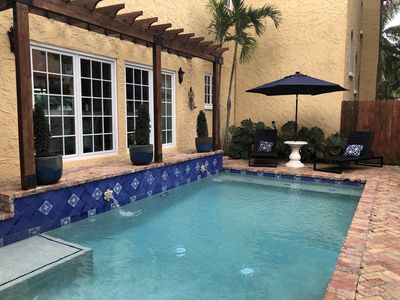 Our intimate pool is the perfect place to relax. Heated in winter.